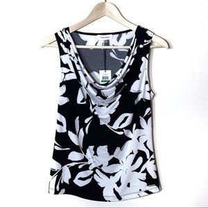 NWT Calvin Klein Sleeveless Floral Print Blouse